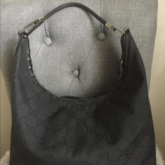 8a881b6e4 Gucci Bags | Black Canvas Hobo Bag | Poshmark